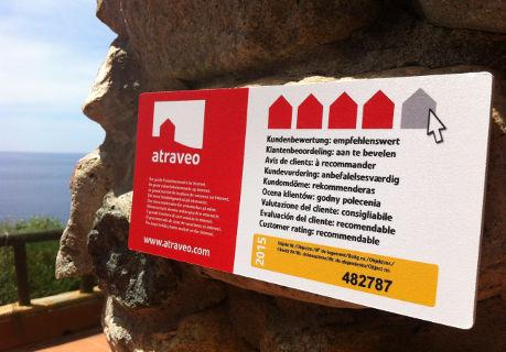 Bild Nr 1 - Plakette bei einem Ferienhaus auf Sardinien