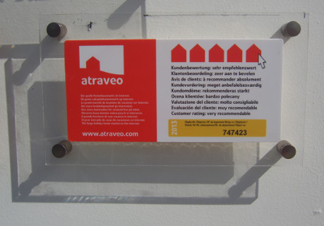 Bild Nr 8 - Plakette bei einem Ferienhaus auf den Azoren